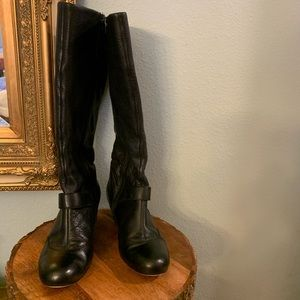 Ciao 7.5 very soft leather black kitten heel boot